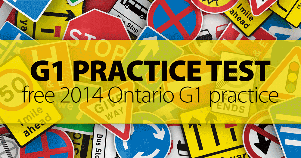 how to pass g1 road test ontario
